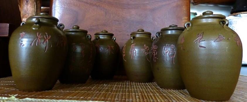 刻字在陶器