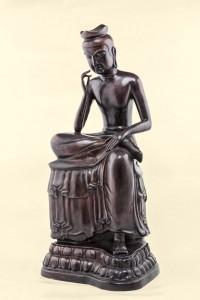 「天冠彌勒菩蕯銅像」