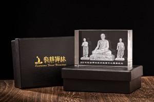 沙門樂住釋迦佛與雙賢弟子水晶像