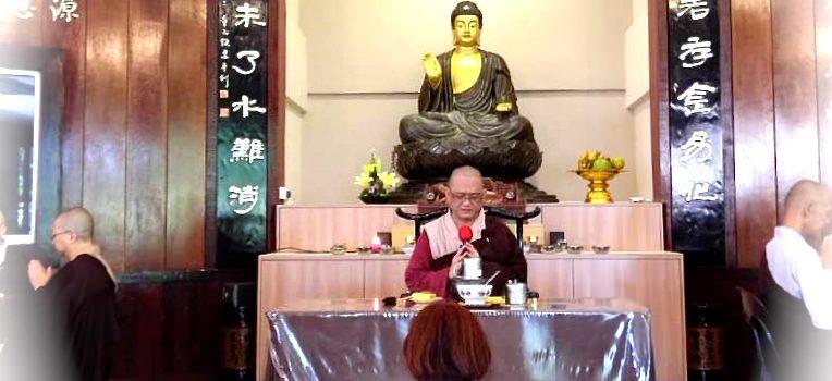 2018年6月20日(三)寂靜禪林護法會與靜真等人,為已故蔡藝國先生(阿Chua)在寂靜禪林做供佛、供僧供眾及做功德迴向。