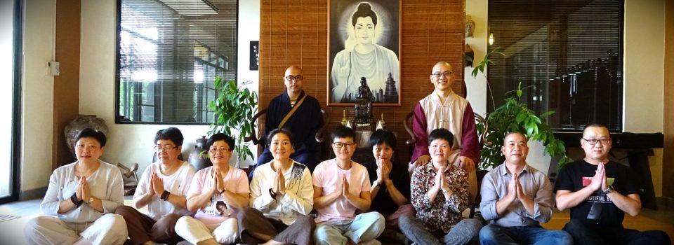 國外禪修學員浙江妙慧法師及居士們抵達寂靜禪林