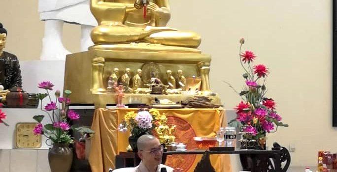 方丈行程:砂拉越古晉菩提禪林主講「學佛可以很快樂」